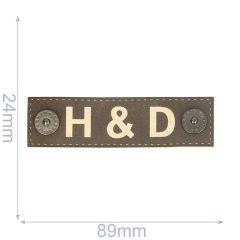 Label H-D 89x24mm brown - 5pcs