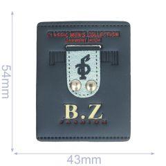 Label BZ fashion 43x54mm blue - 5pcs