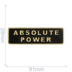 Label absolute power 91x28mm black-gold - 5pcs