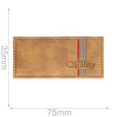 Label syle quality 75x35mm brown - 5pcs