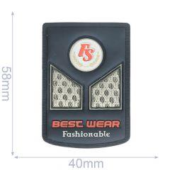 Label FS best wear fashionable 40x58mm blue  - 5pcs