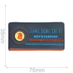 Label Jiang dong zhi yi men's fashion 76x38mm blue - 5pcs
