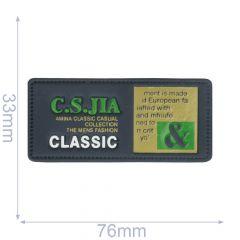 Label C.S.JIA classic 76x33mm blue - 5pcs