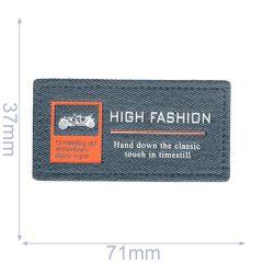 Label high fashion 71x37mm blue - 5pcs