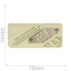 Label top 75x34mm green - 5pcs