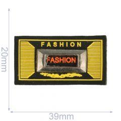 Label fashion 39x20mm black-yellow - 5pcs