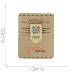 Label collection fashion 43x54mm brown - 5pcs