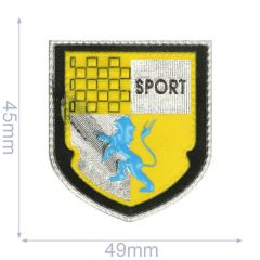 Label arms sport 49x45mm yellow - 5pcs