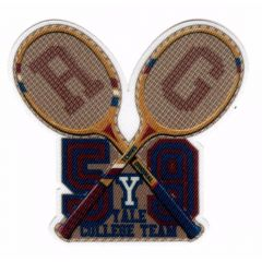 HKM Iron-on patch tennis rackets - 5pcs