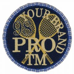 HKM Iron-on patch tennis - 5pcs