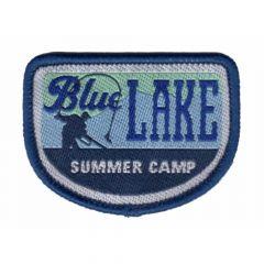 HKM Iron-on patch blue lake summer camp - 5pcs