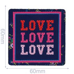 HKM Iron-on patch Love Love Love - 5pcs