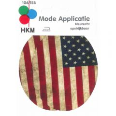 HKM Iron-on knee patch USA 85x105mm - 5pcs