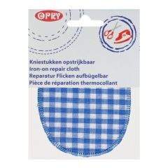 Opry Iron-on knee patches checked - 5pcs