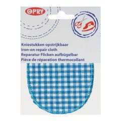 Opry Iron-on knee patches checked 11.5x9cm - 5pcs