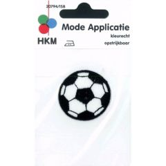 HKM Iron-on patch soccer ball - 5pcs