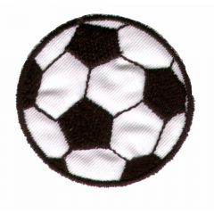 Iron-on patch soccer ball - 5pcs