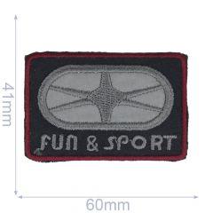 Iron-on patches Fun & Sport reflective - 5pcs