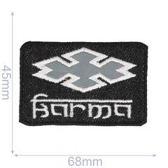 Iron-on patches Karma reflective - 5pcs