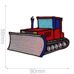 HKM Iron-on patch bulldozer 90x56mm - 5pcs