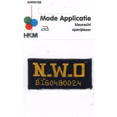 Iron-on patches N.W.O. - 5pcs