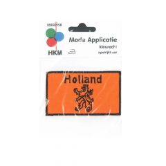 Iron-on patches Orange flag with Holland and lion - 5pcs