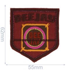 Iron-on patch deejay - 5pcs