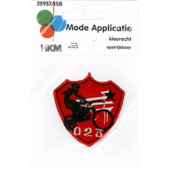 Iron-on patches 023 Motor red - 5pcs