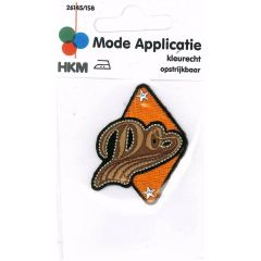 Iron-on patch DO triangle - 5pcs