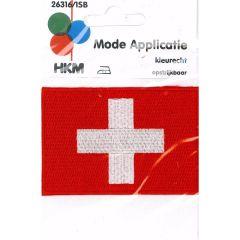Iron-on patches flag Switserland - 5pcs