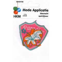 Iron-on patches PARADISE flower on arms - 5pcs