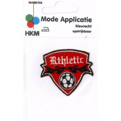Iron-on patches Athletic with football in shield - 5pcs