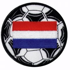 Iron-on patches Dutch flag-football - 5pcs