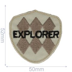 HKM Iron-on patch explore - 5pcs