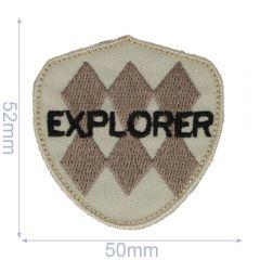 HKM Iron-on patch explore - 5pcs