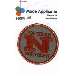 HKM Iron-on patch northern - 5pcs