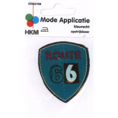 HKM Iron-on patch route 66 - 5pcs