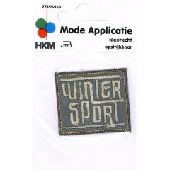 Iron-on patch winter sport - 5pcs