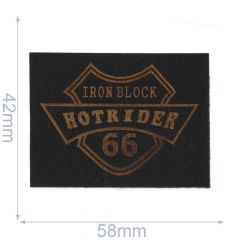 Iron-on patch hotride - 5pcs