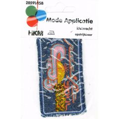 Iron-on patches Pacific jeans - 5pcs