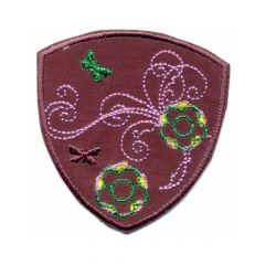 Iron-on patches flower in arms - 5pcs