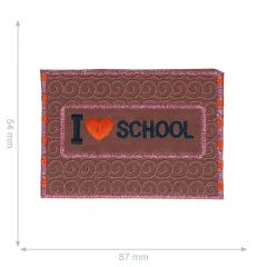 HKM Iron-on patch reflective I love school - 5pcs