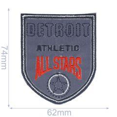 Iron-on patches Detroit - 5pcs