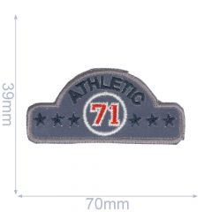 Iron-on patches Athletic 71 blue - 5pcs