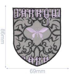 Iron-on patches DARK grey - 5pcs