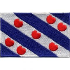 Iron-on patches flag Friesland - 5pcs