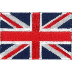 Iron-on patches flag Great Britain - 5pcs
