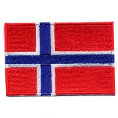 Iron-on patches flag Norway - 5pcs