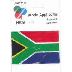 Iron-on patches flag South-Africa - 5pcs