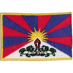 Iron-on patches flag Tibet - 5pcs